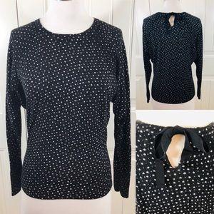 Ann Taylor Loft Dolman Keyhole Tie-Back Sweater XS